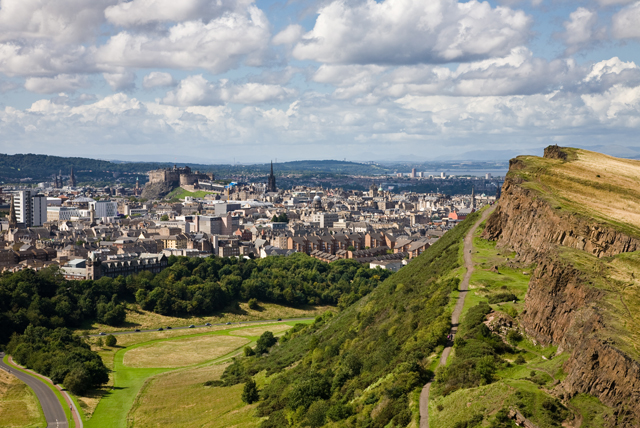 View of the city from Arthur's Seat