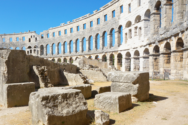 The stunning Roman amphitheatre in Pula