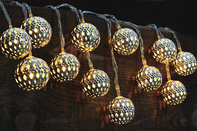 Perfect For A Summer Garden Party, These Moroccan Style Solar String Lights  Are Sure