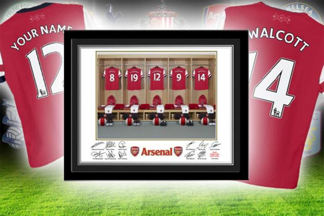 A personalised football dressing room image can make a great Father's Day present. Just make sure you remember the correct team that he supports…