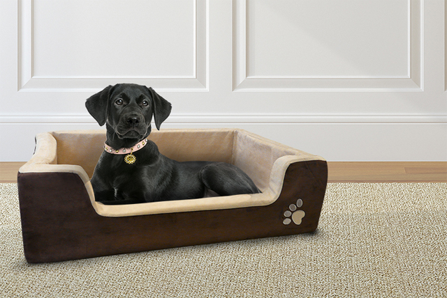 Perfect for older pooches, the memory foam pet bed is warm, comfortable and great for supporting bones and joints.