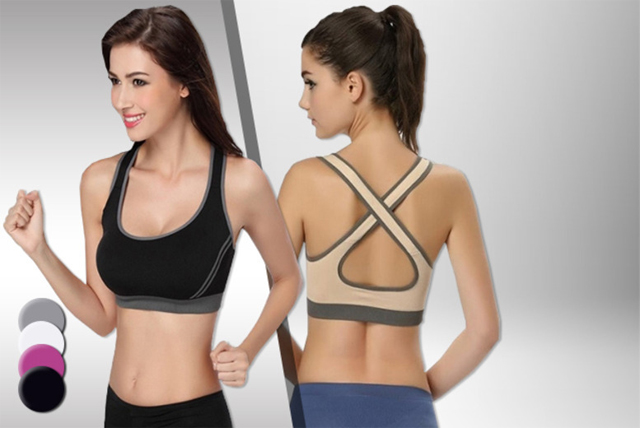 Featuring bulit-in padding to give your bust a boost while you work out, the padded sports bra is valid in four colours.