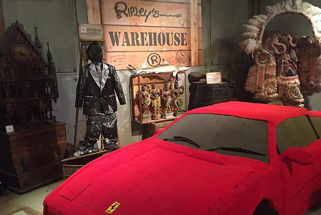 Ripley's Warehouse complete with a life size woolen Ferrari, because what warehouse is complete without a car made out of your jumper?
