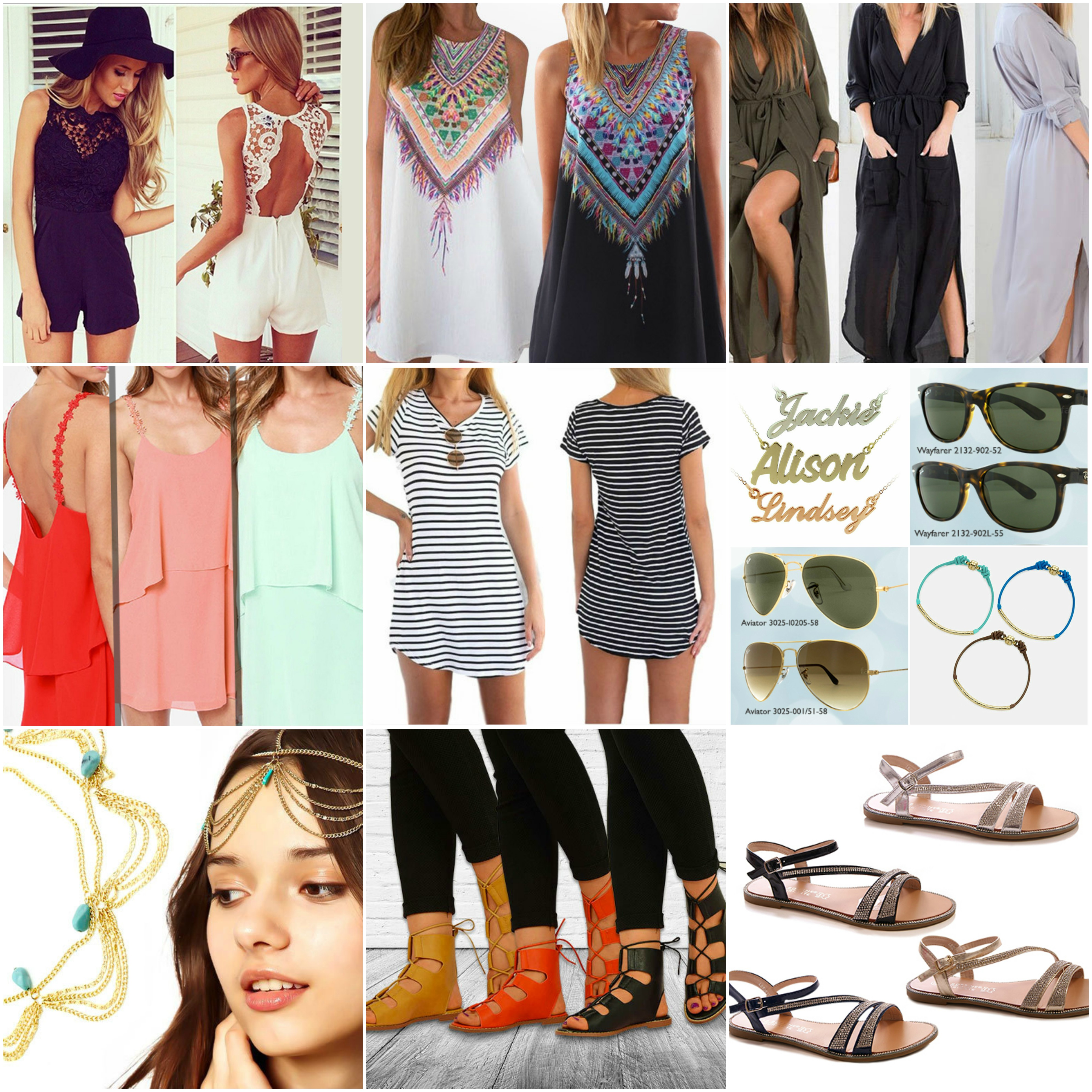 Festival Fashion, Coachella, Sandals, Dress, Ray Bans