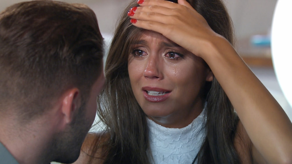 This image and the information contained herein is strictly embargoed until 22.00 Tuesday 11th July 2017 From ITV Studios Love Island: SR3: TX37 on ITV2 Pictured: Tyla and Jonny decide who gets dumped. This photograph is (C) ITV Plc and can only be reproduced for editorial purposes directly in connection with the programme or event mentioned above, or ITV plc. Once made available by ITV plc Picture Desk, this photograph can be reproduced once only up until the transmission [TX] date and no reproduction fee will be charged. Any subsequent usage may incur a fee. This photograph must not be manipulated [excluding basic cropping] in a manner which alters the visual appearance of the person photographed deemed detrimental or inappropriate by ITV plc Picture Desk. This photograph must not be syndicated to any other company, publication or website, or permanently archived, without the express written permission of ITV Plc Picture Desk. Full Terms and conditions are available on the website www.itvpictures.co.uk. For further information please contact: james.hilder@itv.com / 0207 157 3052