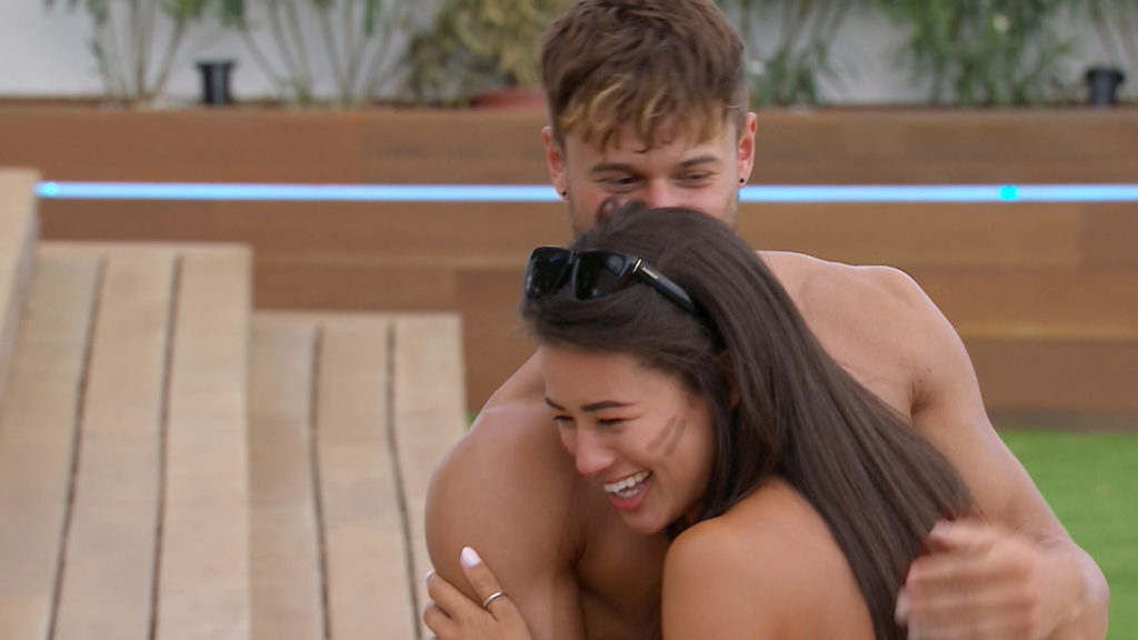 From ITV Studios Love Island: SR3: TX26 on ITV2 Pictured: Montana and Alex. This photograph is (C) ITV Plc and can only be reproduced for editorial purposes directly in connection with the programme or event mentioned above, or ITV plc. Once made available by ITV plc Picture Desk, this photograph can be reproduced once only up until the transmission [TX] date and no reproduction fee will be charged. Any subsequent usage may incur a fee. This photograph must not be manipulated [excluding basic cropping] in a manner which alters the visual appearance of the person photographed deemed detrimental or inappropriate by ITV plc Picture Desk. This photograph must not be syndicated to any other company, publication or website, or permanently archived, without the express written permission of ITV Plc Picture Desk. Full Terms and conditions are available on the website www.itvpictures.co.uk. For further information please contact: james.hilder@itv.com / 0207 157 3052